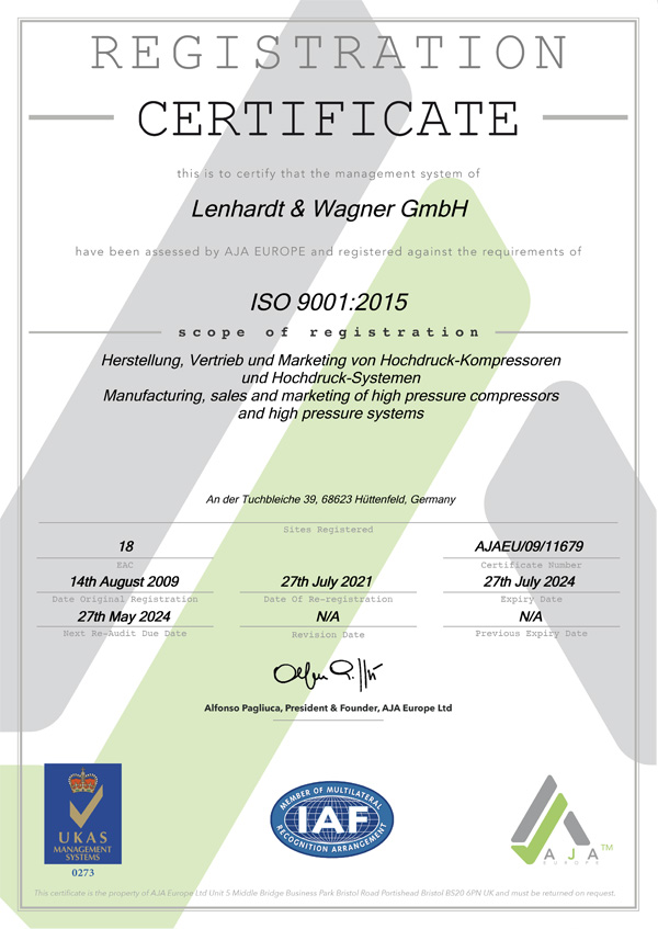 Quality Management   L&W Compressors